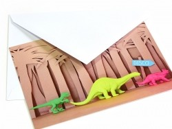 10 My Little Day invitations - Dino (in French)