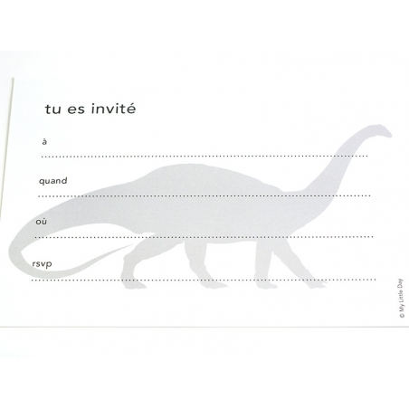 10 invitations My Little Day - dino  - 3