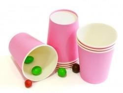 8 gobelets en papier - rose bonbon
