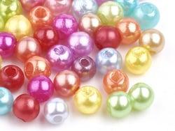 Acheter 100 perles en plastique rondes imitation perles de culture - 6 mm - multicolore - 2,49€ en ligne sur La Petite Epice...