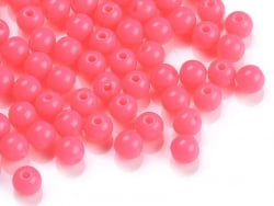 Acheter 100 perles en plastique rondes 6 mm - rose fluo - 1,49€ en ligne sur La Petite Epicerie - Loisirs créatifs