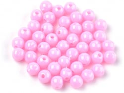 Acheter 100 perles en plastique rondes 6 mm - rose pâle - 0,79€ en ligne sur La Petite Epicerie - Loisirs créatifs