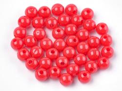 Acheter 100 perles en plastique rondes 6 mm - rouge - 0,79€ en ligne sur La Petite Epicerie - Loisirs créatifs