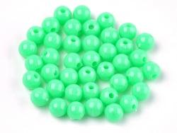 Acheter 100 perles en plastique rondes 6 mm - vert - 0,79€ en ligne sur La Petite Epicerie - Loisirs créatifs