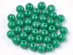 Acheter 100 perles en plastique rondes 6 mm - vert sapin - 0,79€ en ligne sur La Petite Epicerie - Loisirs créatifs