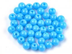 Acheter 100 perles en plastique rondes 6 mm - bleu ciel - 0,79€ en ligne sur La Petite Epicerie - Loisirs créatifs