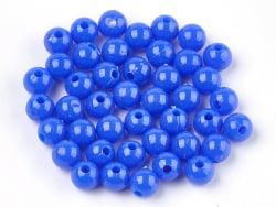 Acheter 100 perles en plastique rondes 6 mm - bleu foncé - 0,79€ en ligne sur La Petite Epicerie - Loisirs créatifs