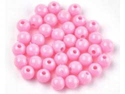 Acheter 100 perles en plastique rondes 6 mm - rose pastel - 0,79€ en ligne sur La Petite Epicerie - Loisirs créatifs