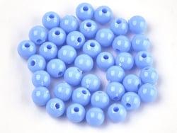 Acheter 100 perles en plastique rondes 6 mm - bleu pastel - 0,79€ en ligne sur La Petite Epicerie - Loisirs créatifs