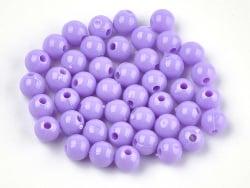 Acheter 100 perles en plastique rondes 6 mm - violet / mauve - 0,79€ en ligne sur La Petite Epicerie - Loisirs créatifs