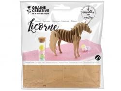 Acheter Maquette carton - Licorne 21,5 x 4 x17 cm - 2,29€ en ligne sur La Petite Epicerie - Loisirs créatifs