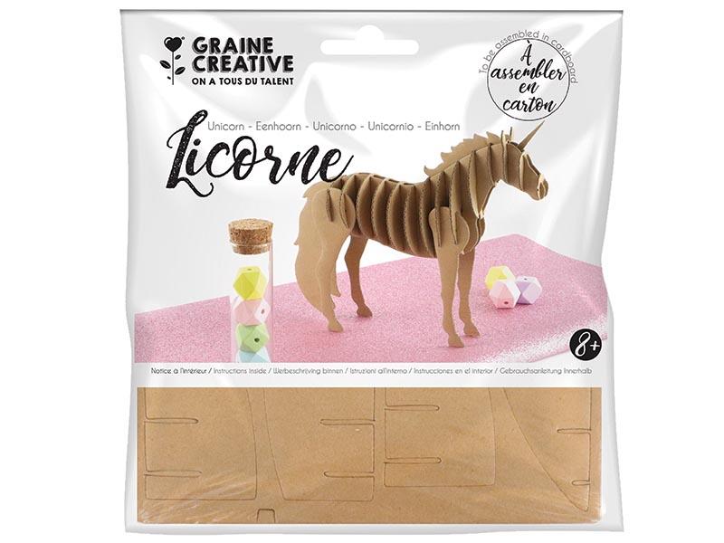 Acheter Maquette carton - Licorne 21,5 x 4 x17 cm - 2,20€ en ligne sur La Petite Epicerie - Loisirs créatifs