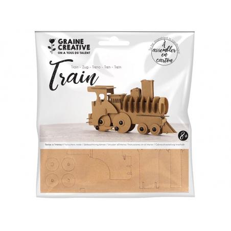 Acheter Maquette en carton - Train 19 x 4 x 11 cm - 2,29€ en ligne sur La Petite Epicerie - Loisirs créatifs