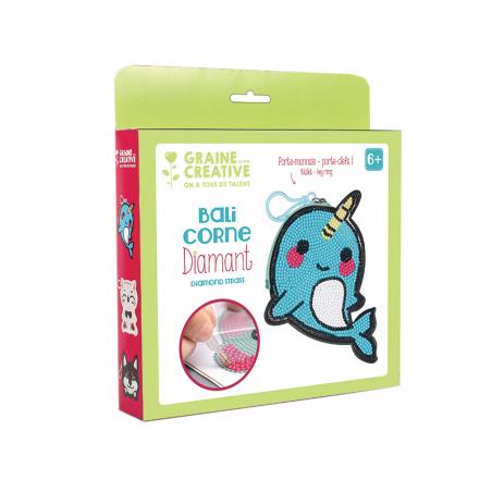 Acheter Kit diamond mosaic - Porte-monnaie Balicorne - 8,49€ en ligne sur La Petite Epicerie - Loisirs créatifs
