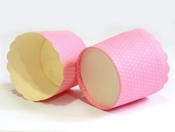 Acheter 24 Caissettes à cupcake - rose à pois blanc - 7,50€ en ligne sur La Petite Epicerie - 100% Loisirs créatifs