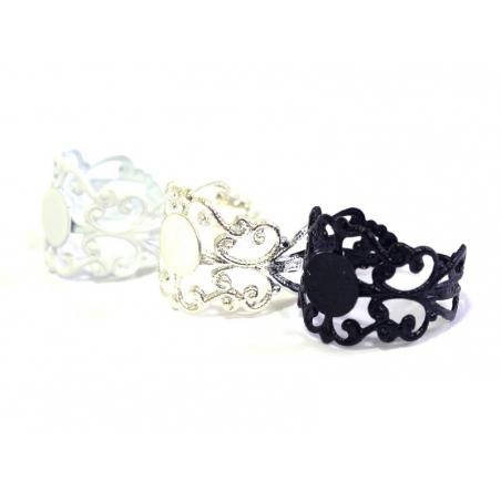 1 white openwork ring blank