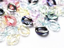 Acheter 50 maillons en plastique 22 x 16 mm - à connecter pour création de chaîne - transparent irisé - 12,99€ en ligne sur ...
