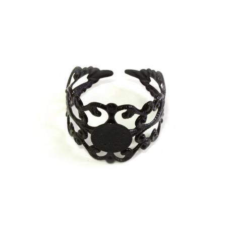Acheter 1 support de bague ajouré noir - 2,19€ en ligne sur La Petite Epicerie - Loisirs créatifs