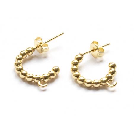 Acheter Paire boucle d'oreilles créoles petites boules - doré à l'or fin 18K - 17 mm - 6,49€ en ligne sur La Petite Epicerie...