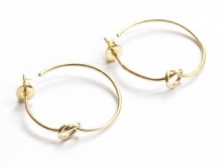 Acheter Paire boucle d'oreilles créoles petit noeud - doré à l'or fin 18K - 23 mm - 7,99€ en ligne sur La Petite Epicerie - ...