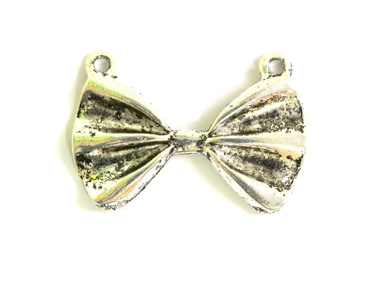 1 bow tie pendant - silver-coloured