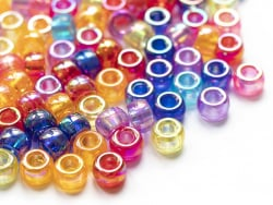 Acheter 100 perles en plastique basiques pour enfants - pony beads - effet irisé - 2,99€ en ligne sur La Petite Epicerie - L...