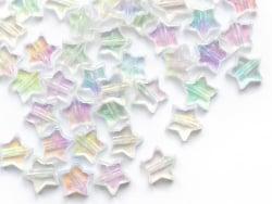 Acheter 50 perles irisées en plastique - étoile - 11 mm - 1,49€ en ligne sur La Petite Epicerie - Loisirs créatifs