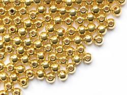 Acheter 100 perles en plastique rondes - 6 mm - doré - 1,49€ en ligne sur La Petite Epicerie - Loisirs créatifs