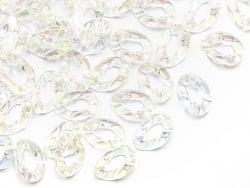 Acheter 50 grands maillons en plastique 30 x 21 mm - à connecter pour création de chaîne - blanc nacré et irisé - 9,99€ en l...