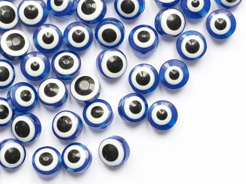 Acheter 50 perles en plastiques - œil porte bonheur - bleu foncé - 8mm - 3,89€ en ligne sur La Petite Epicerie - Loisirs cré...