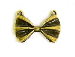 1 pendentif noeud papillon - bronze