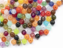 Acheter 100 perles en plastique rondes 6 mm - imitation perles naturelles - 2,29€ en ligne sur La Petite Epicerie - Loisirs ...
