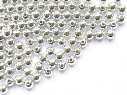 Acheter 100 perles en plastique rondes - 6 mm - argenté - 1,49€ en ligne sur La Petite Epicerie - Loisirs créatifs
