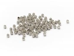 Acheter 100 perles à écraser en acier inoxydable argenté - 2 mm - 3,99€ en ligne sur La Petite Epicerie - Loisirs créatifs