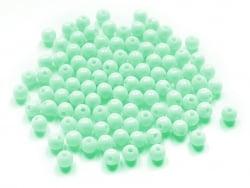 Acheter 100 perles en plastique rondes 6 mm - vert d'eau - 0,79€ en ligne sur La Petite Epicerie - Loisirs créatifs