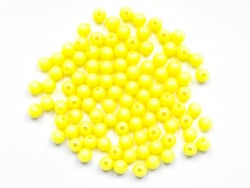 Acheter 100 perles en plastique rondes 6 mm - jaune fluo - 1,49€ en ligne sur La Petite Epicerie - Loisirs créatifs