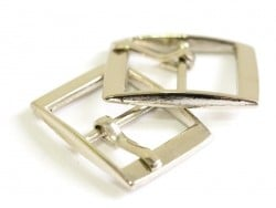 Small belt buckle / bag clasp - silver-coloured