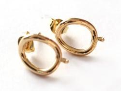 Acheter Paire de boulcles d'oreilles cercle - doré à l'or fin 18K - 13 mm - 6,19€ en ligne sur La Petite Epicerie - Loisirs ...