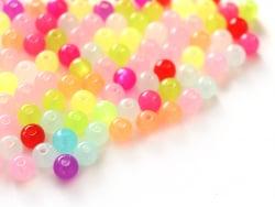 Acheter 100 perles en plastique rondes 6 mm - multicolores - 1,29€ en ligne sur La Petite Epicerie - Loisirs créatifs