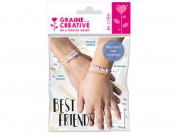 Acheter Kit bracelets à messages - Perles alphabet Best Friends - 4,49€ en ligne sur La Petite Epicerie - Loisirs créatifs