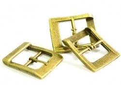 Boucle ceinture et sac - couleur bronze  - 1