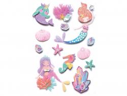 Acheter 13 Stickers Sirènes 3D - 3,99€ en ligne sur La Petite Epicerie - Loisirs créatifs