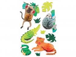 Acheter 9 stickers animaux de la jungle - Effet 3D alvéoles - 3,99€ en ligne sur La Petite Epicerie - Loisirs créatifs