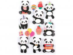 Acheter 11 stickers Pandas - Effet 3D - 3,99€ en ligne sur La Petite Epicerie - Loisirs créatifs