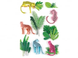 Acheter 9 stickers panthères - Effet 3D - 3,99€ en ligne sur La Petite Epicerie - Loisirs créatifs