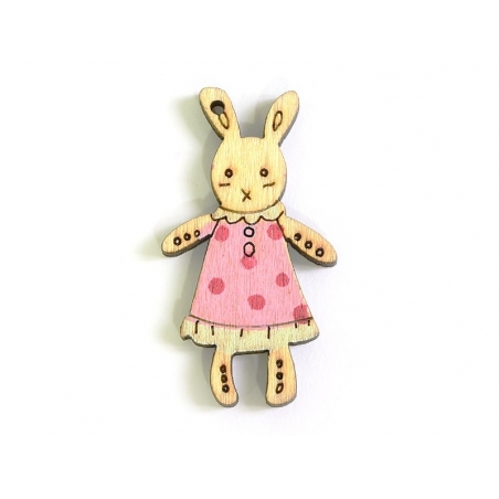 Wooden bunny charm