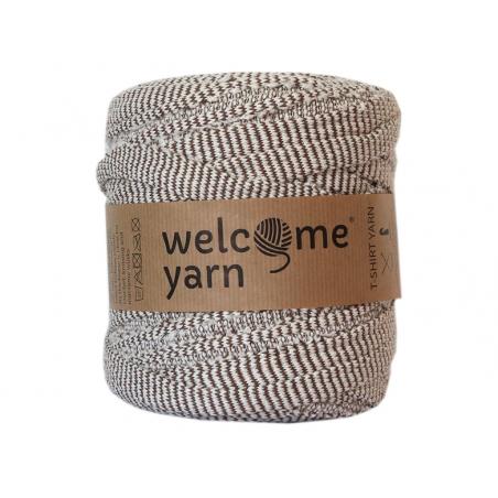 Acheter Grande bobine de fil trapilho - Beige à rayures marrons - 7,90€ en ligne sur La Petite Epicerie - Loisirs créatifs