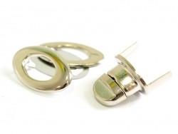 Acheter Tourniquet ovale pour sac - couleur argenté - 3,50€ en ligne sur La Petite Epicerie - Loisirs créatifs