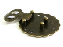 Fermoir rond - 40 mm- couleur bronze