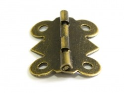 Scharnier - 25 mm - bronzefarben